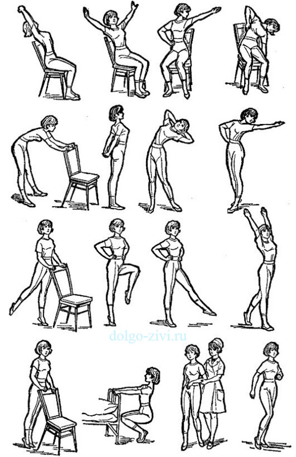 Схема занятий лечебной гимнастикой