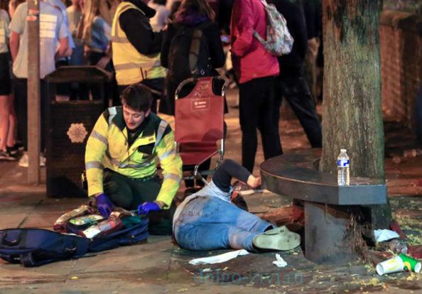 полиция собирает пьяных