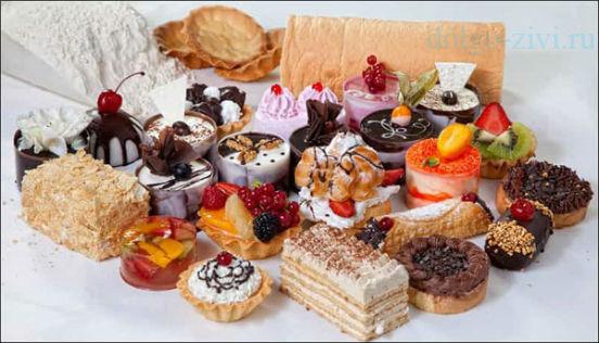 аппетитные пирожные