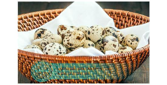 корзина перепелиных яиц