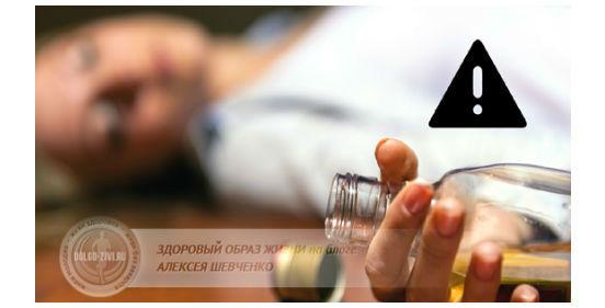 отравление спиртным