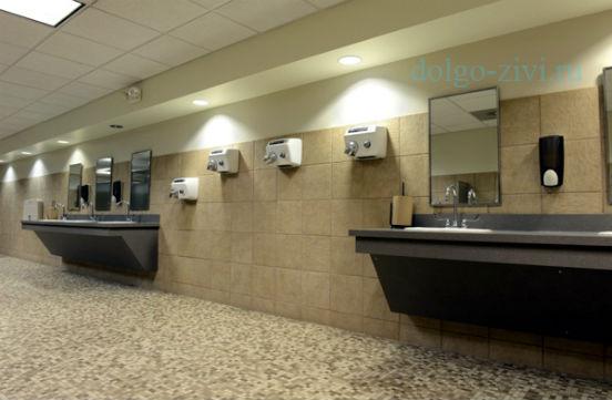 сушилки в туалете