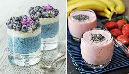 йогурт с чиа