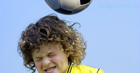 мячом по голове