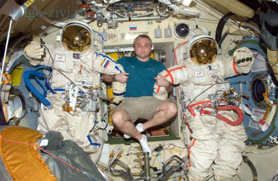 в космическом корабле