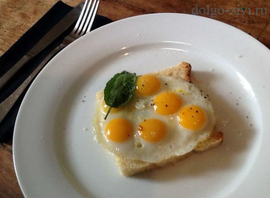 яйца на тосте
