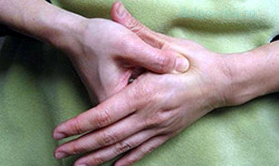 массаж точки на руке