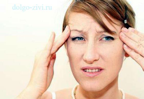 упало давление болит голова