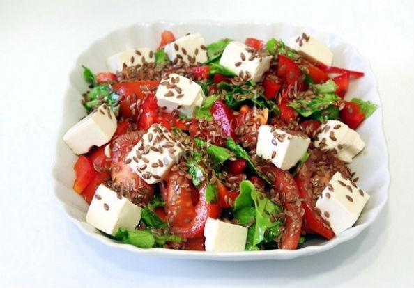 салат с льном