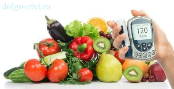 продукты и глюкометр