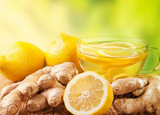 чай имбирь и лимон