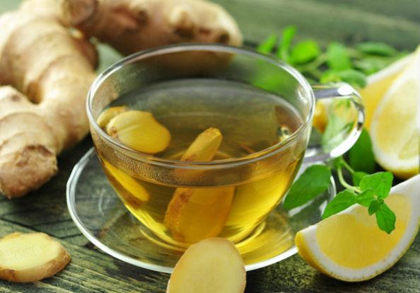 чай из имбиря и лимона