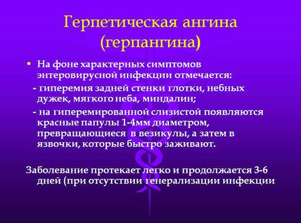 описание герпангины