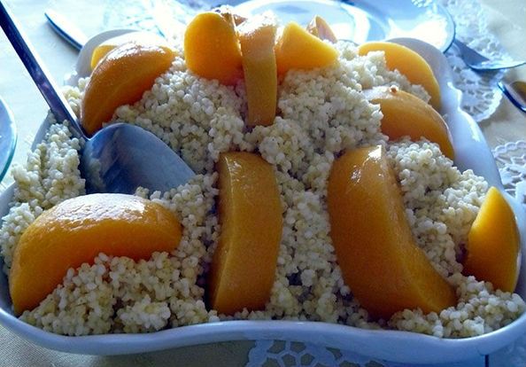 пшенка с персиками