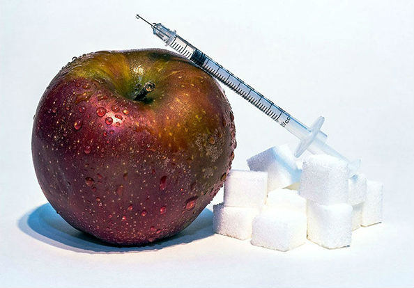 яблоко сахар шприц