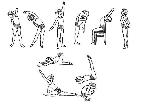 упражнения стоя при остеохондрозе