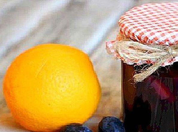 слива с апельсинами
