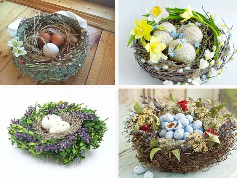 декор пасхального гнезда