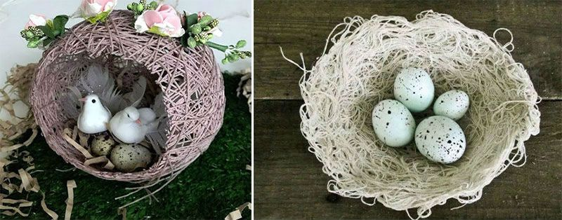 гнездо из ниток