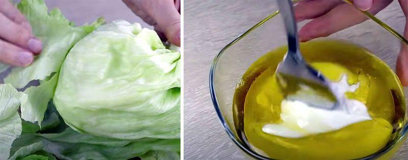 салат и соус
