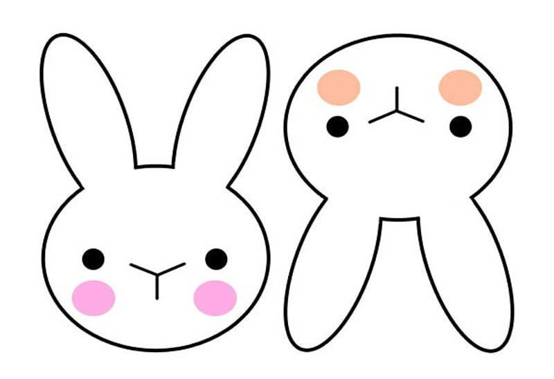 шаблон зайца