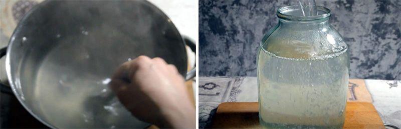 в кастрюлю наливаем березовый сок