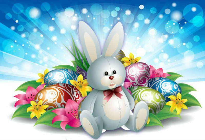 заяц на яйцах