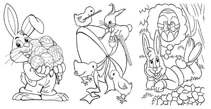 заяц-раскраска