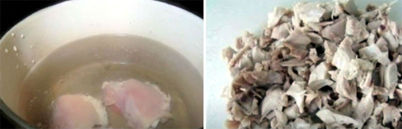 бульон и мясо для супа