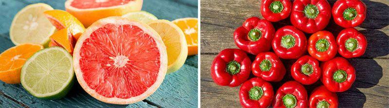 цитрусовые и перец