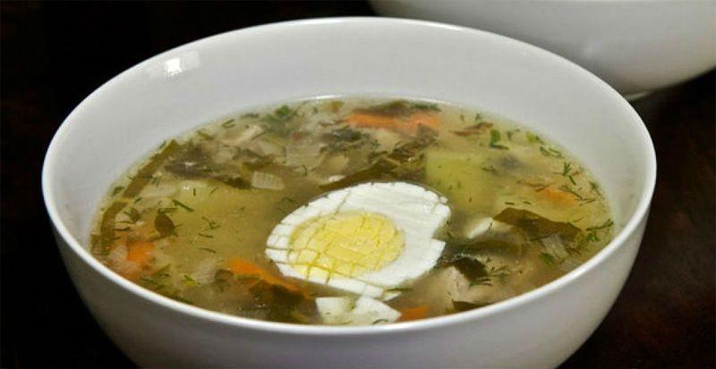 классический рецепт супа из щавеля с яйцом
