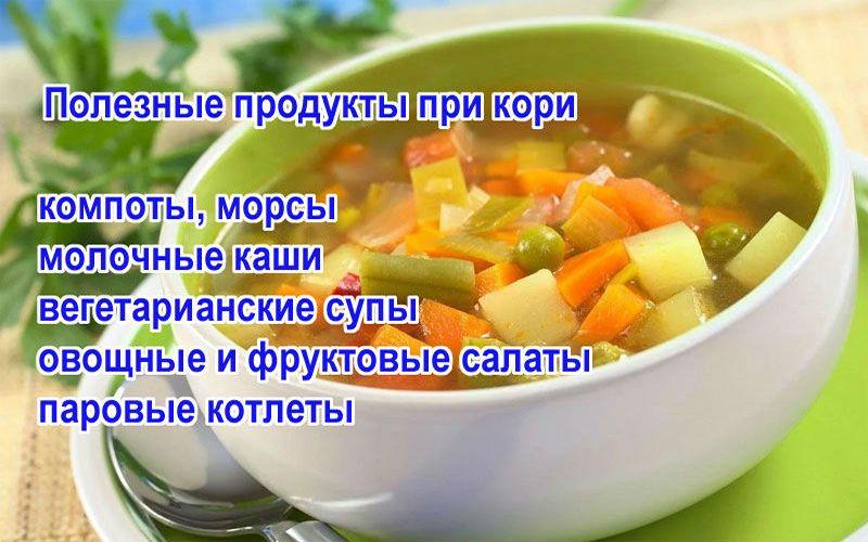 полезные продукты при кори