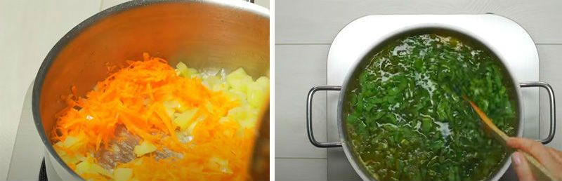 суп из щавеля на мясном бульоне
