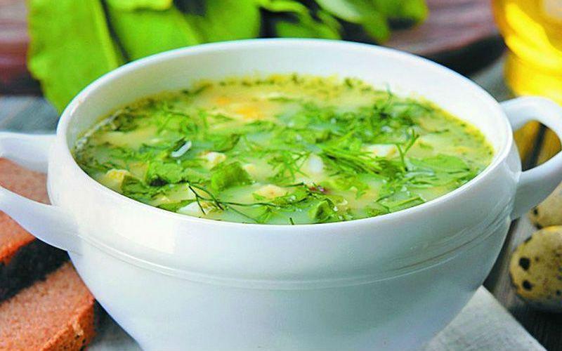 зеленый суп пюре