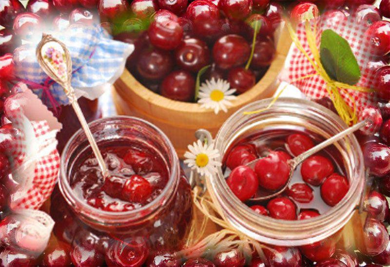банки с вишневым вареньем