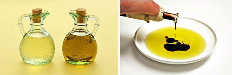 уксус и масло