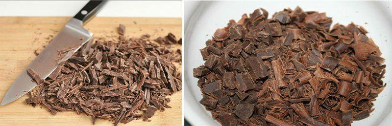 рубленый шоколад