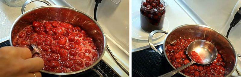 варим вишни с желатином