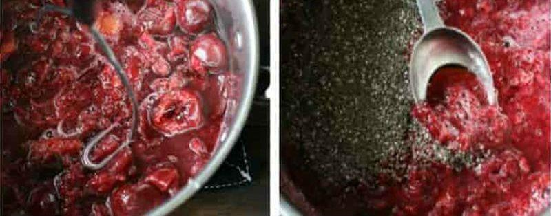 вишневое варенье с чиа