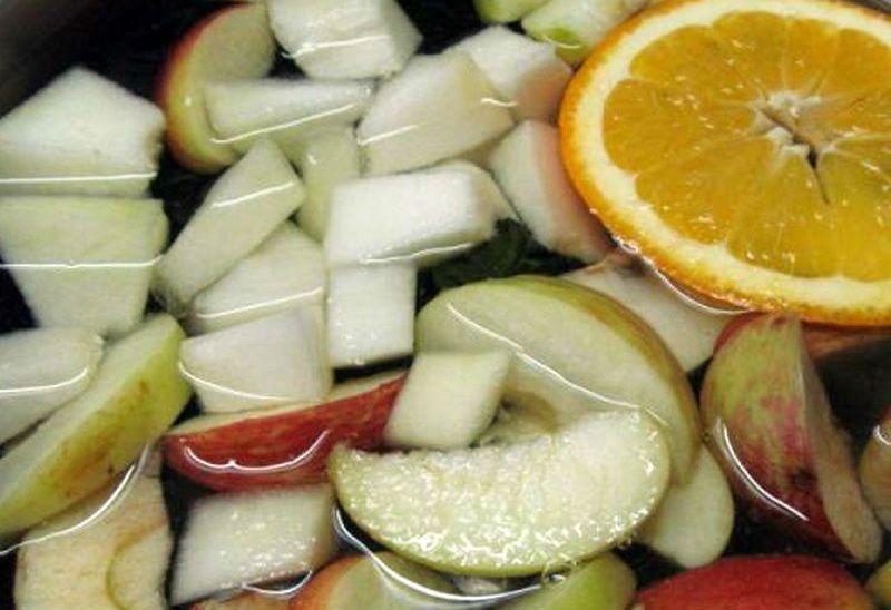компот из яблок и апельсинов в мультиварке