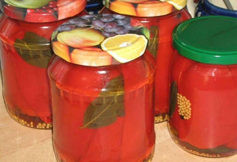 лечо с болгарским перцем и томатной пастой