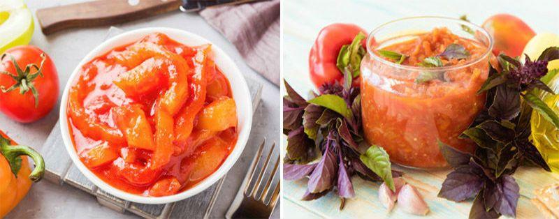 лечо с луком и помидорами и болгарским перцем на зиму