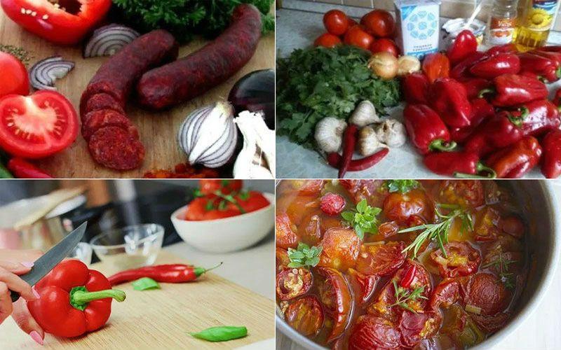 лечо с морковью и болгарским перцем