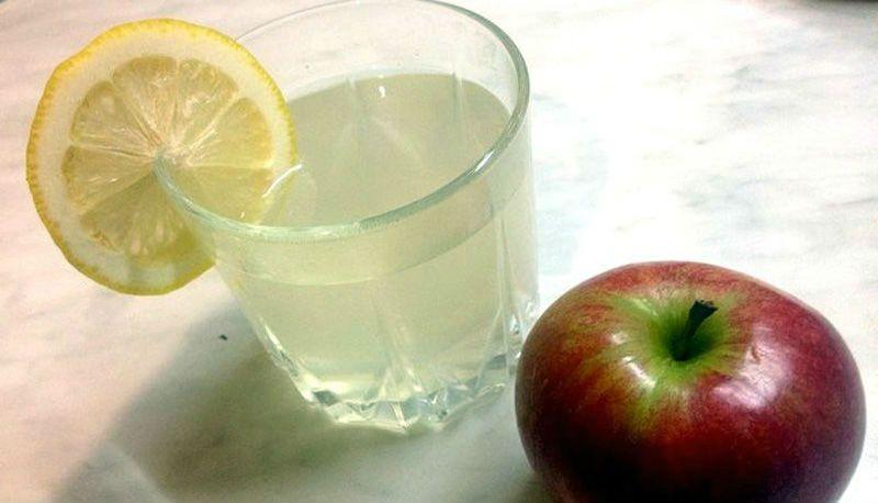 яблочно-лимонный компот