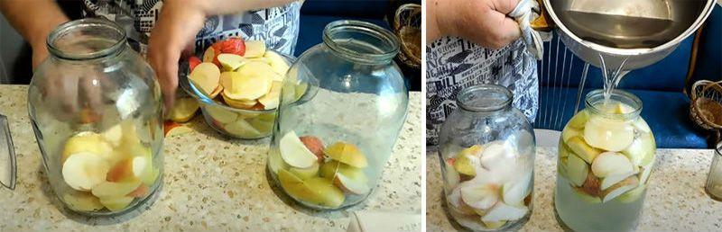 яблочный компот из свежих яблок на зиму