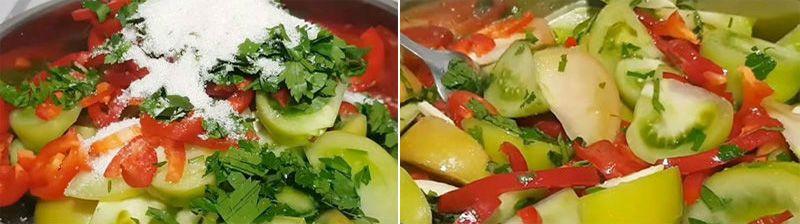 овощи для рагу с помидорами