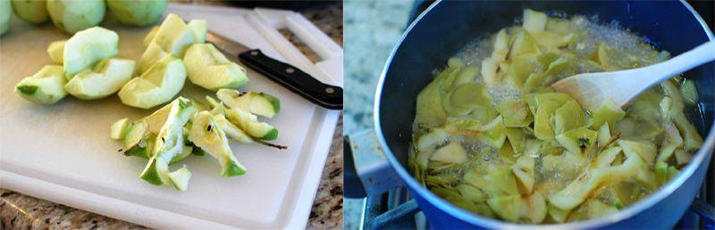 режем и варим яблоки