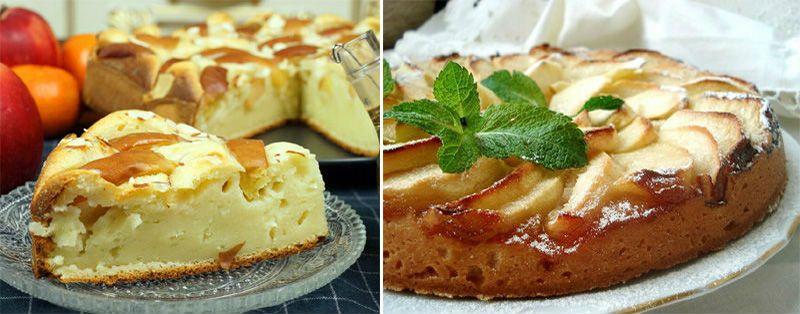 шарлотка с яблоками в духовке со сметаной
