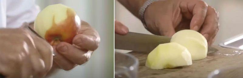 яблоки очищаем от кожицы