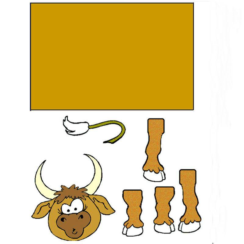 шаблон быка из шпульки